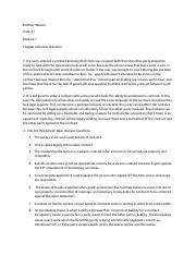Legal Enviornment Chapter 6 Excercise Questions.docx