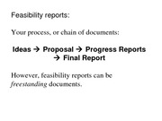 Feasibility Reports (Class notes) (2)