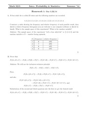 Homework 1 Solution on Probability and Statistics