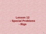 12. Special Problems