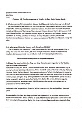 Study Guide, Chapter 14 - East Asia Empires