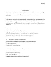 Thesis and Outline 2