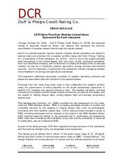 [Duff & Phelps Credit Rating Co] DCR Rates First-Ever Weather-Linked Notes.pdf