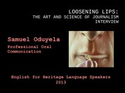 Loosening Lips Powerpoint1