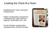 Leading the Chick-fil-a Team
