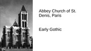 Gothic Arch. Pictures