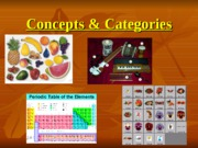 Concepts & Categories