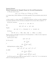 Sample Exam 2 Solutions