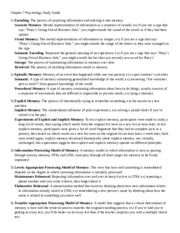 Chapter 7 Psychology Study Guide