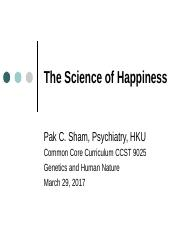 The Science of Happiness 2017.ppt