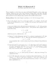 MATH 113 Problem Set 3 with Solutions