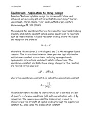 Equilibrium Application to Drug Design notes
