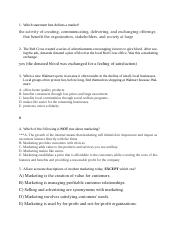 MKT 2300 - exam #1 - MC questions and answers.doc