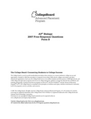 college board essays ap biology Ap® biology 2005 scoring guidelines the college board: connecting students to college success the college board is a not-for.