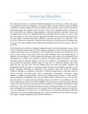 American Muslims.docx