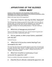 Apparition of the Blessed Virgin Mary