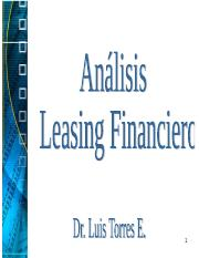 TEMA VI LEASING FINANCIERO 2015