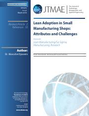 Test - Djassemi - 2014 - Lean Adoption in Small Manufacturing Shops.pdf