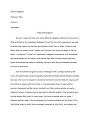 Editorial Standpoint Essay