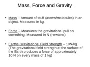 Mass Force and Gravity