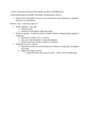 Psychology - Lecture 6 Notes