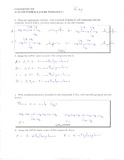01 Alkane Nomenclature worksheet key