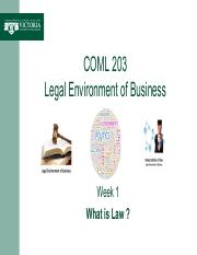 Week 1 -- What is Law