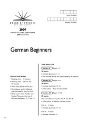 2009-hsc-exam-german-beginners