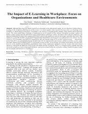 The Impact of E-Learning in Workplace_ Focus on Organizations and Healthcare Environments