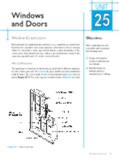 Unit 25 Windows and Doors