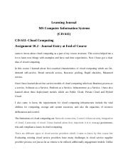 Assignment 10.3 - End of learning journal.docx