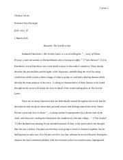 Research Paper The Scarlet Letter Final Draft