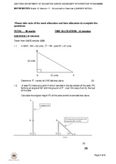 Maths Grade 10 Session Exercise Notes