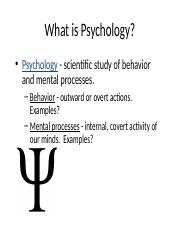 1 General_Psychology - Introduction, philosophical issue handouts-2