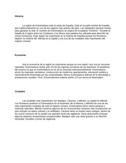 Extremadura Project notes