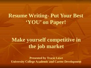 Writing Your Best Resume Outline