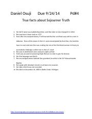 True facts about Sojourner Truth.docx