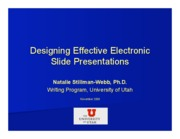 Effective Electronic Slides