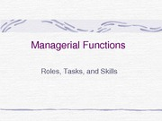Managerial Functions Powerpoint