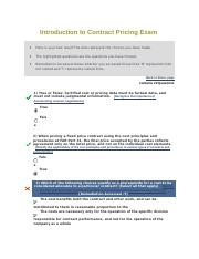 Introduction to Contract Pricing Exam CLC058.docx