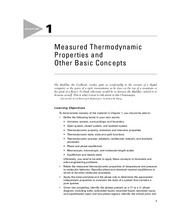Chapter 1. Measured Thermodynamic Properties and Other Basic Concepts