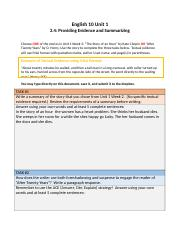 2.4 Providing Evidence and Summarizing Assignment.docx