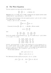 Wave Equation review