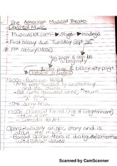 Musical Theatre Notes 1