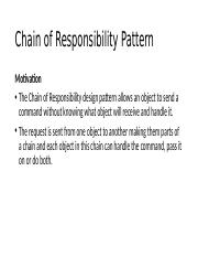 8. Chain of Responsibility
