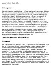 Metacognition Research Paper Starter - eNotes.pdf
