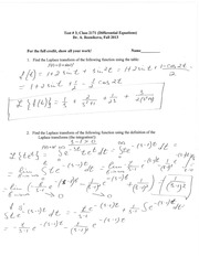 Solutions for the test #3
