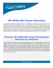 HPE6-A07 Aruba Certified ClearPass Associate 6.5 Exam Dumps