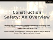 Chapter 19 - Construction Safety - outline