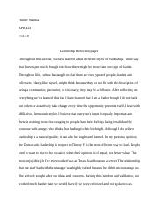 Leadership reflection paper.edited .docx